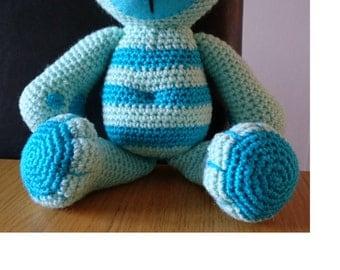 Crochet 'tummy' teddy