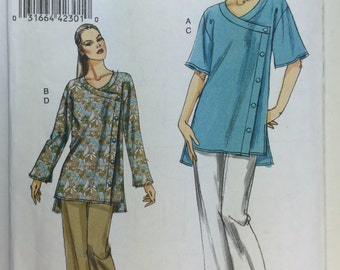 Very Easy Vogue 8501 Misses' Tunic and Pants Pattern sizes XSmall, Small, Medium  uncut