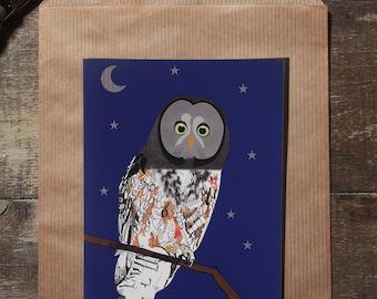 The OWL illustration postcard