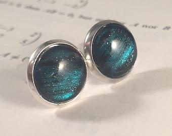 Neptune - Earring studs - science jewelry - science earrings - galaxy jewelry - physicsphysics earrings - fake plugs - plug earrings