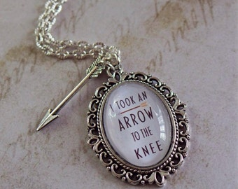 Skyrim Inspired Quote Necklace