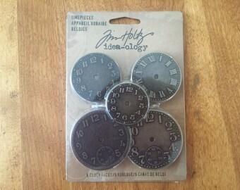 Tim Holtz Timepieces, Tim Holtz Idea-ology, Watch Faces, Mixed Media Supplies, Metal Embellishments