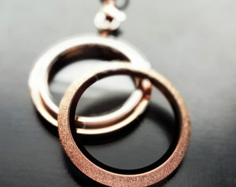 Rose Gold Floating Locket with Sparkle Face-Large-30mm-Twist Face-Stainless Steel