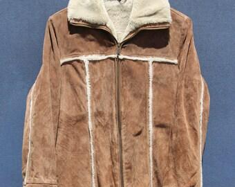 60's Fur Lined Suede Coat