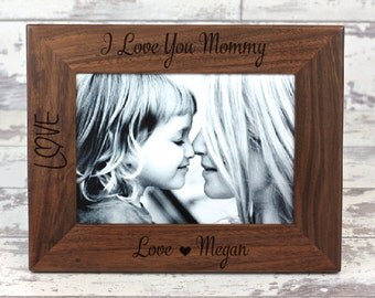 Personalized Picture Frame, Frame, Gift For Mom, Gift For Her, Personalized Gift, Gifts For Mom, Christmas Gift, Mother's Day Gift