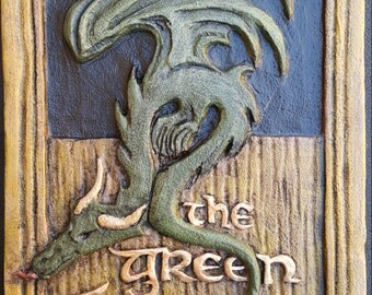 Green Dragon Sign - Hobbit, Lord of the Rings