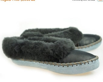 ON SALE Mens SHEEPSKIN Slippers Moccasin Leather Boots Moccasins for Men House Sheepskin Slippers Handmade Shoes Wool Slippers Best slippers