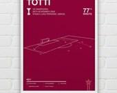 Francesco Totti vs Sampdoria Giclee Print