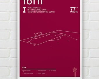 Francesco Totti vs Sampdoria Giclee Print -- [85]