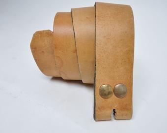 vintage leather belt hippie sailboat 1970s size 30 31 32 33 34