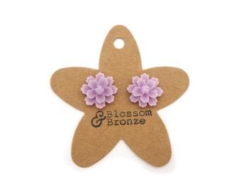 Lilac Flower Studs | Studded Earrings