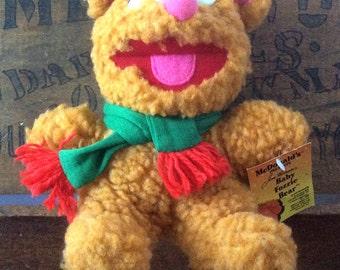 Vintage Retro 1987 Muppets Baby Fozzie Bear with Original Tag Jim Henson McDonalds