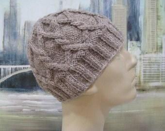 "Men's Knitted Hat, Winter Hat, Brown Hat, ""Kyle-II', Acrylic wool blend"