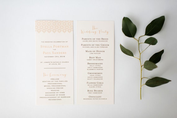 stella wedding programs (sets of 10)  // lola louie paperie