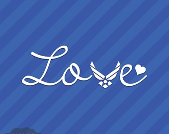Air Force Love Vinyl Decal Sticker