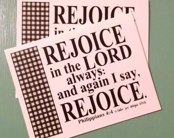 Rejoice card digital printable