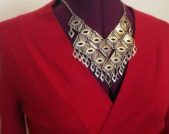 Geometric Sarah Coventry Vintage Goddess Necklace