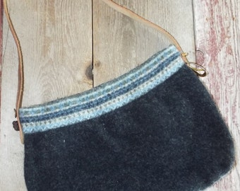 Felted Wool Purse~Made from a recycled sweater