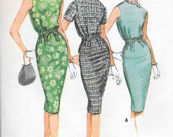 """Vintage 1960s McCall's Sewing Pattern 5699- Misses' Dress size 14 bust 34 uncut """"Easy to Sew"""""""