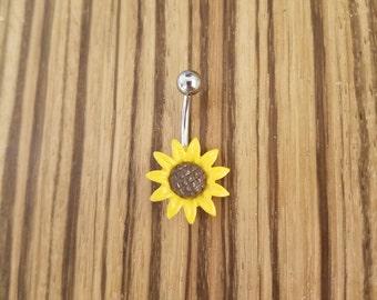 14g Sunflower Navel Ring!