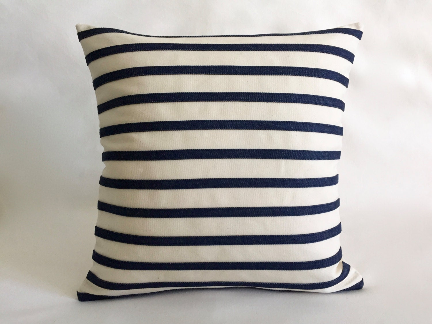 Indoor Nautical Cover Pillows Navy blue Stipes Striped Cover