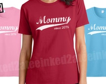 Mommy since any year womens Tshirt custom mommy gifts tshirts tees gifts for her