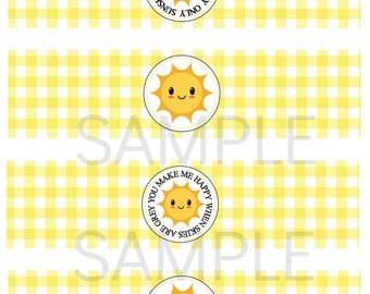 INSTANT PRINTABLE You are my Sunshine My only Sunshine Water Labels Digital File Birthday or Baby Shower