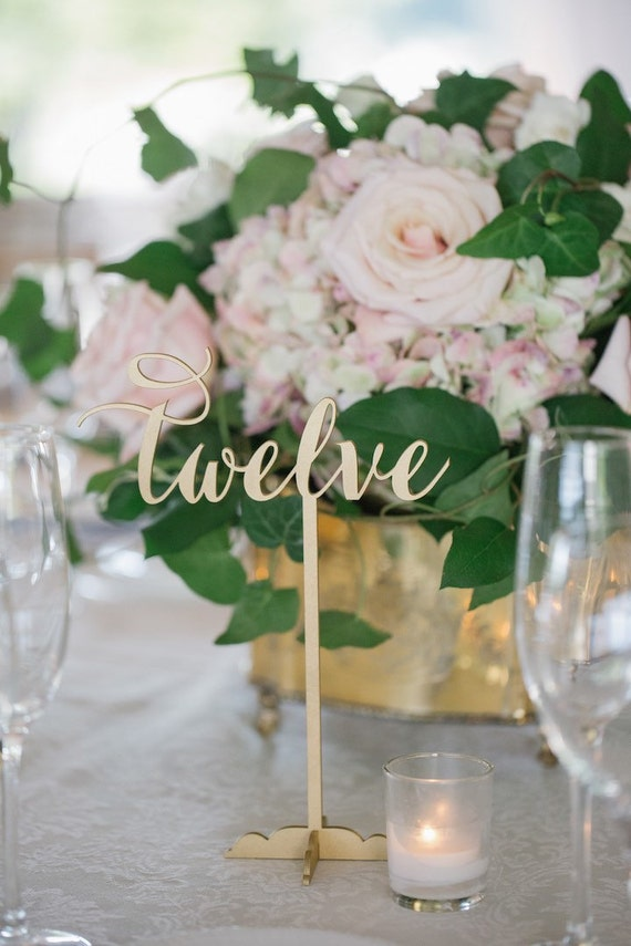 Wedding Table Numbers, DIY Table Numbers, Wooden Table Numbers, Gold Table Numbers, Laser Cut Wedding Decor, Rustic Wedding Table Numbers