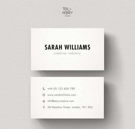 Minimalistic Business Cards Calling Card Design Minimal : cost of business cards : Custom Card Template