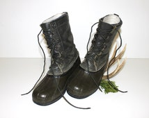 Popular Items For Logger Boots On Etsy