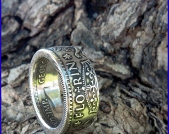1940-1945 .925 Sterling Silver Australian Florin Coin Ring