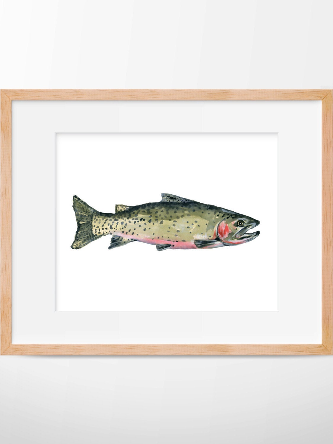 Cutthroat trout trout print hunting and fishing fly for Fly fishing decor