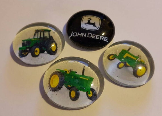 Items Similar To Set Of 4 Strong Glass Magnets Tractor