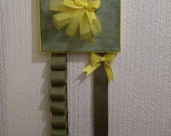 Hair clips /headbands /bows organiser yellow gold  dancing ballerina