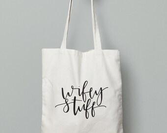 market canvas tote bag // wifey stuff