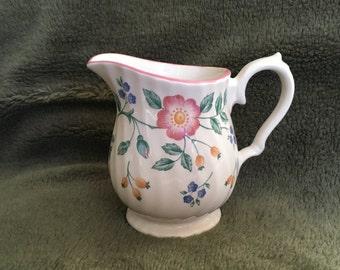 Churchill Briar Rose Creamer, Briar Rose Porcelain Creamer, Pitcher, 6 oz Creamer, Churhill Creamer, Floral Creamer, Staffordshire England