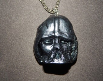 2 Color Options Darth Vader's Melted Helmet Sculpted From Polymer Clay