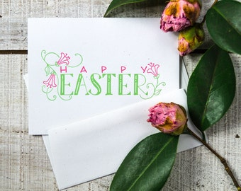 Happy Easter Letterpress Card