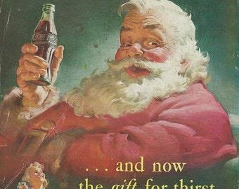 Coca cola santa 1950's magazine advertisments downloads