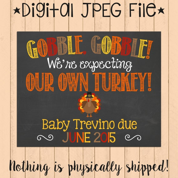 thanksgiving themed pregnancy announcement chalkboard poster