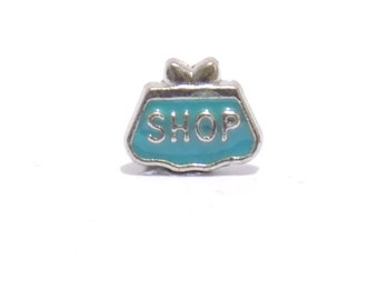 floating charm, blue charm, necklace charm, bag charm, charms