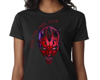 Fear the Dark Side-Darth Maul T-Shirt inspired by the Star Wars Saga Sith Masters