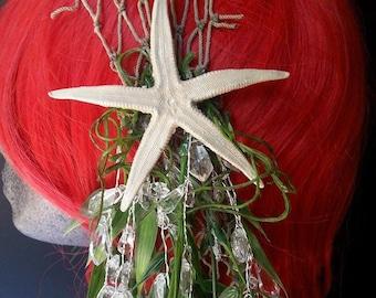 Mermaid headpiece, mermaid crown, starfish headpiece, mermaid costume, headpieces,Halloween costume