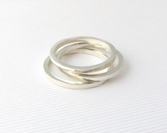 Minimal stackable ring- Ethical rings- Stacking rings- Sterling silver ring- Minimalist rings- Girlfriend gift- Gift for her- Unusual ring