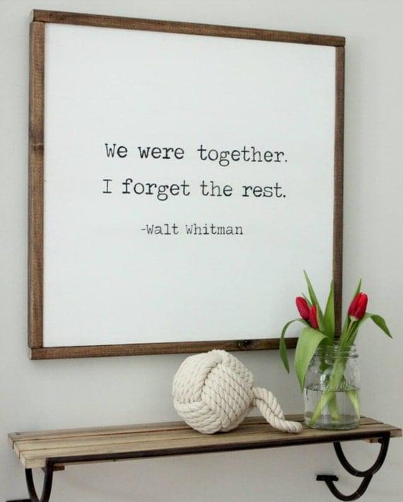 24 X 24 Framed Wood Sign We Were Together I By Ellisonmade
