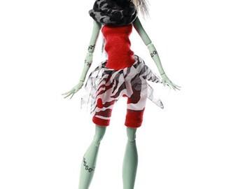 Handmade Monster doll clothes (dress set): Pinkscroll MH Set VIII.