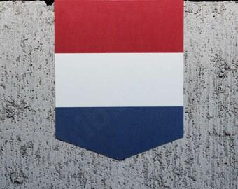 "Flag of the Netherlands sticker - 2"" x 2.5"" - Vinyl Decal Car Dutch Holland Emblem Badge"