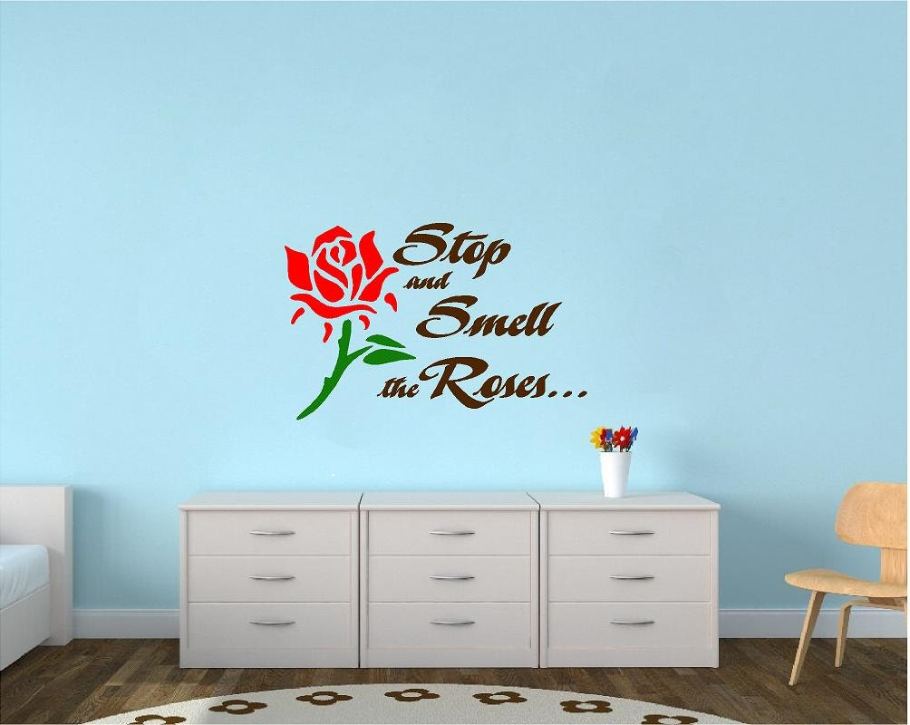 Stop and Smell the Roses Wall Decal by AVinylTouchOfClass