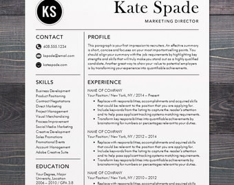 Resume / CV Template, Professional Resume Design for Word Mac or PC, Free  Cover