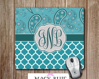 Mouse Pad, Monogram Mouse Pad, Office Accessories, Desk Accessories,  Teacher Gifts